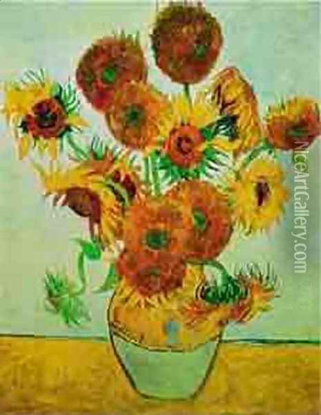 Still Life Vase With Fourteen Sunflowers 1883 Oil Painting - Vincent Van Gogh