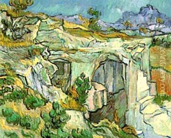 Entrance To A Quarry Near Saint Remy 1889 Oil Painting - Vincent Van Gogh