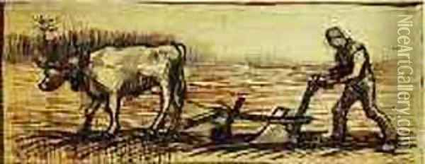 At The Plough Oil Painting - Vincent Van Gogh