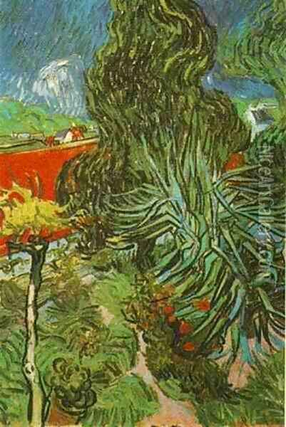 Doctor Gachets Garden In Auvers 1890 Oil Painting - Vincent Van Gogh