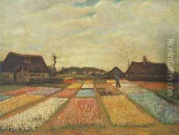 Flower Beds In Holland 1889 Oil Painting - Vincent Van Gogh