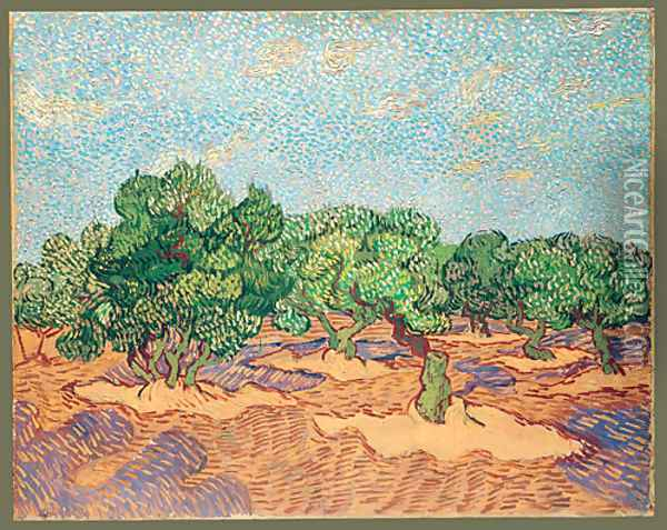 Olive Orchard 1889 Oil Painting - Vincent Van Gogh
