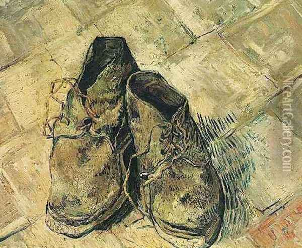 Pair Of Shoes A Oil Painting - Vincent Van Gogh
