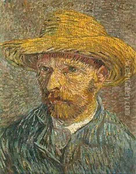 Self Portrait With Straw Hat 1 1888 Oil Painting - Vincent Van Gogh