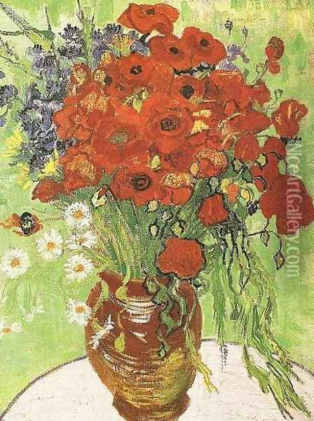 Red Poppies And Daisies Oil Painting - Vincent Van Gogh