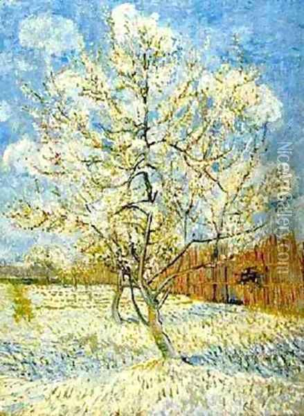The Pink Peach Tree 1 1888 Oil Painting - Vincent Van Gogh