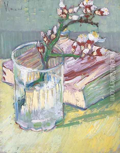 Nature morte, branche d'amandier Oil Painting - Vincent Van Gogh