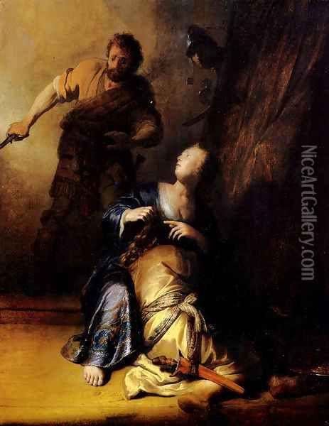 Samson And Delilah Oil Painting - Rembrandt Van Rijn