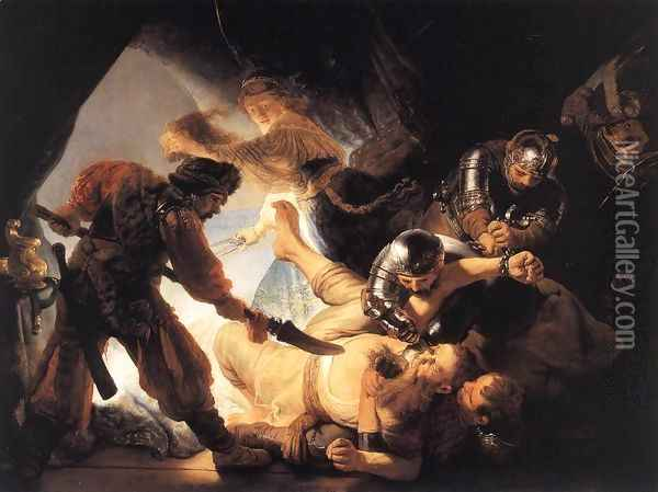 The Blinding of Samson 1636 Oil Painting - Rembrandt Van Rijn