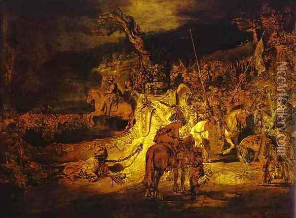 The Unity (Agreement) in the Country Oil Painting - Rembrandt Van Rijn