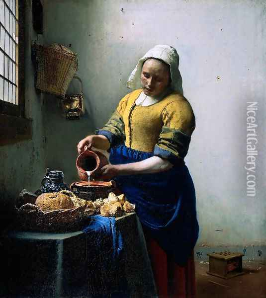The Kitchen Maid Oil Painting - Jan Vermeer Van Delft