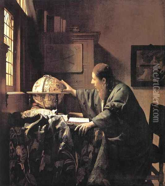 The Astronomer c. 1668 Oil Painting - Jan Vermeer Van Delft