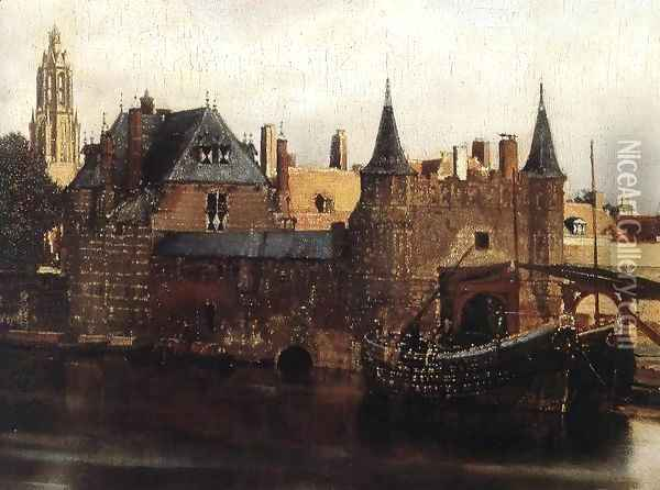View of Delft (detail-1) 1659-60 Oil Painting - Jan Vermeer Van Delft