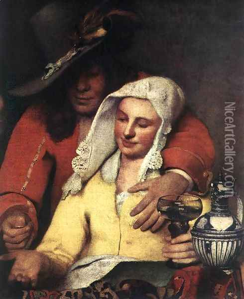 The Procuress (detail-1) 1656 Oil Painting - Jan Vermeer Van Delft