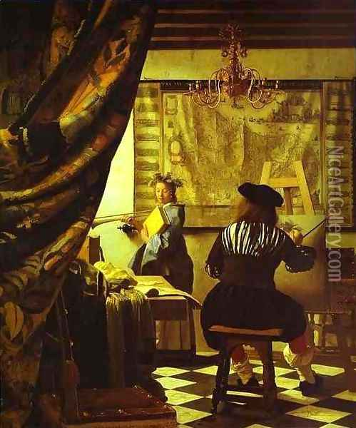 The Art of Painting Oil Painting - Jan Vermeer Van Delft
