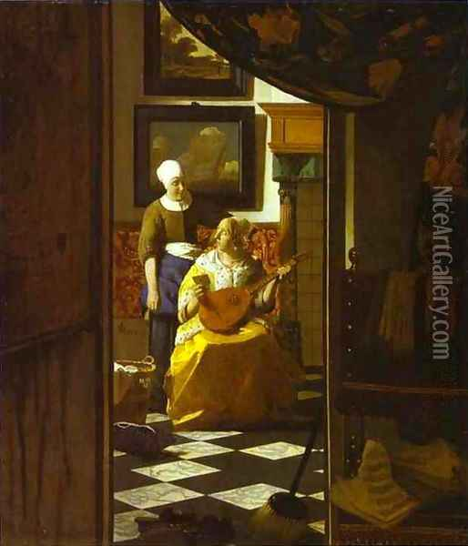 The Letter Oil Painting - Jan Vermeer Van Delft