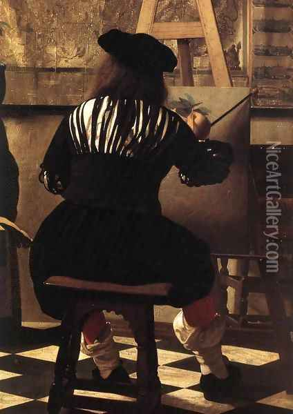 The Art of Painting [detail: 3] Oil Painting - Jan Vermeer Van Delft