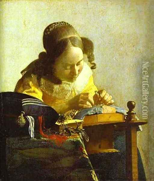 The Guitar Player 1672 Oil Painting - Jan Vermeer Van Delft