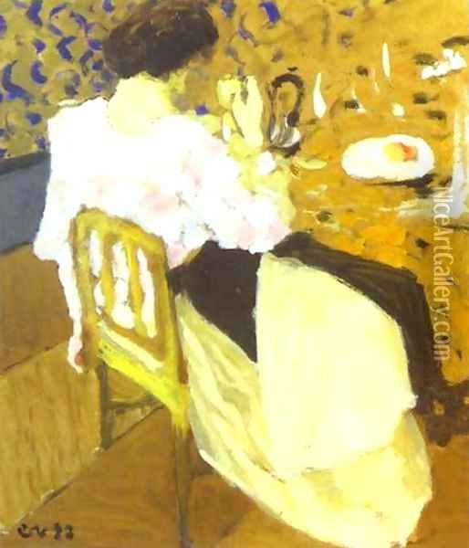 The Breakfast-Le Breakfast. 1892 Oil Painting - Jean-Edouard Vuillard