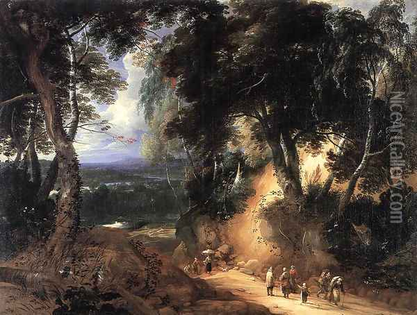 The Soignes Forest Oil Painting - Lodewijk De Vadder