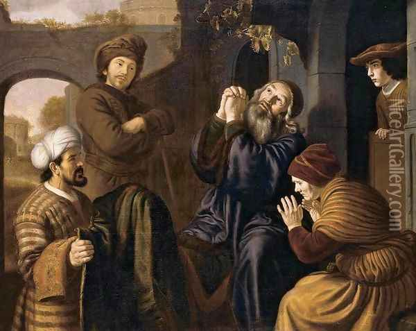 Jacob Being Shown Joseph's Robe 1651-53 Oil Painting - Jan Victors
