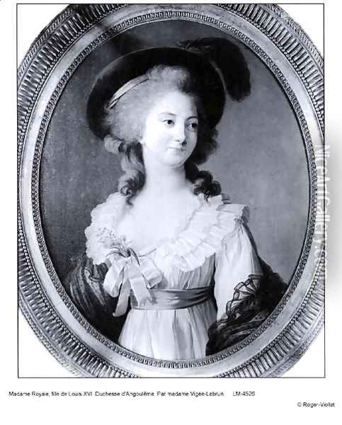 Portrait of Marie-Therese-Charlotte of France 1778-1851 Madame Royale, Duchesse dAngouleme Oil Painting - Elisabeth Vigee-Lebrun
