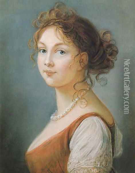 Louise Augusta, Queen of Prussia Oil Painting - Elisabeth Vigee-Lebrun