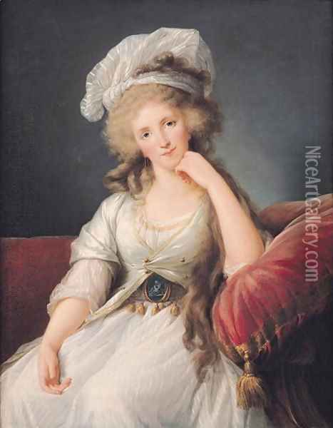 Portrait of Marie Adelaide 1759-1802 Duchess of Orleans Oil Painting - Elisabeth Vigee-Lebrun