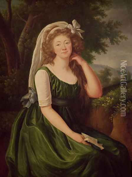 Portrait of the Countess du Barry 1743-93 1789 Oil Painting - Elisabeth Vigee-Lebrun
