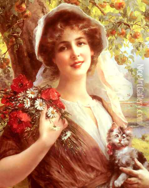 Country Summer Oil Painting - Emile Vernon