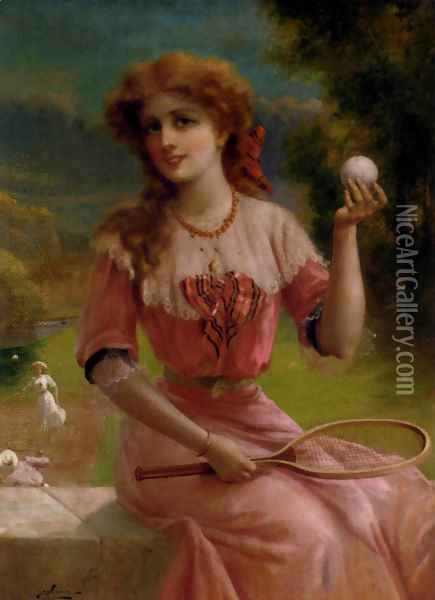 Tennis Anyone? Oil Painting - Emile Vernon