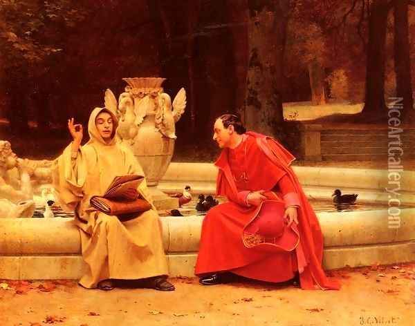 A Fine Point Oil Painting - Jehan Georges Vibert
