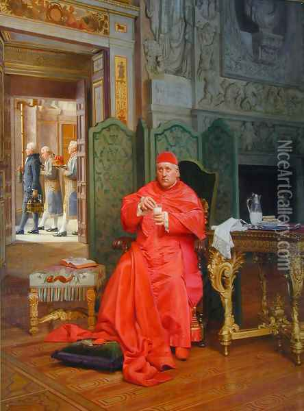 The Diet Oil Painting - Jehan Georges Vibert