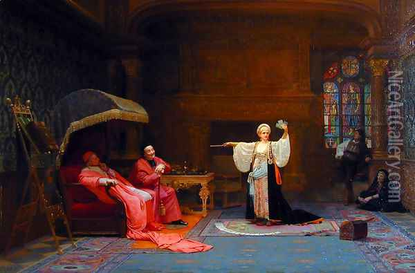 The Fortune Teller Oil Painting - Jehan Georges Vibert