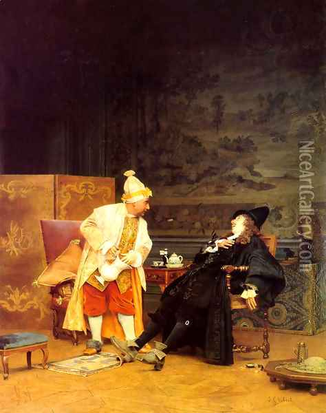 The Sick Doctor Oil Painting - Jehan Georges Vibert