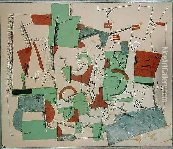 Composition, c.1920 Oil Painting - Georges Valmier