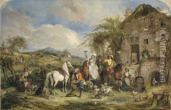 Before The Hunt Oil Painting - Henry Andrews