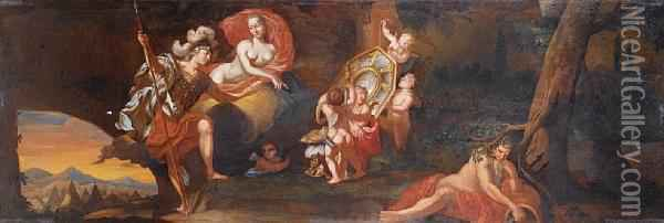 Venus Presenting Aeneas With Armour Forged Byvulcan Oil Painting - Gerard de Lairesse