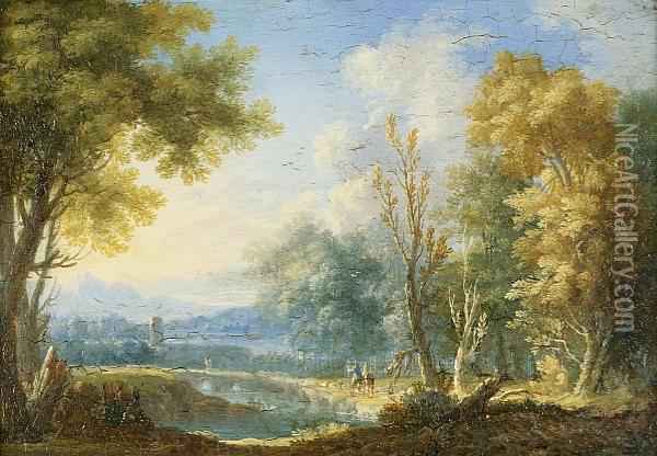Landscapes: Two Oil Painting - Norbert Joseph Carl Grund