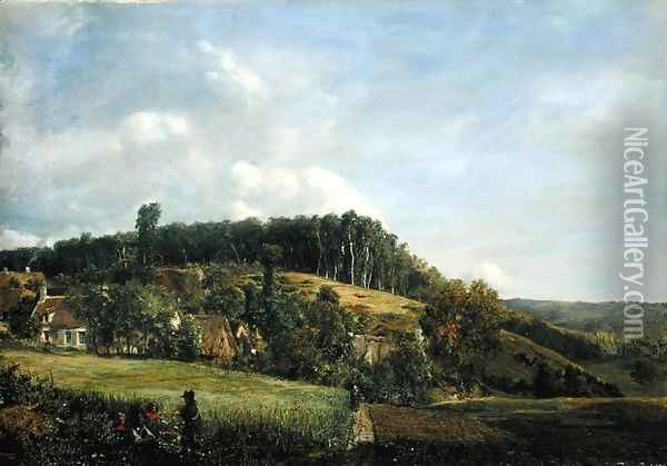 Landscape in Northern Germany Oil Painting - Adolf Vollmer