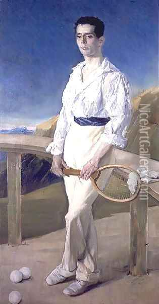 The Tennis Player Oil Painting - Jose Villegas Cordero