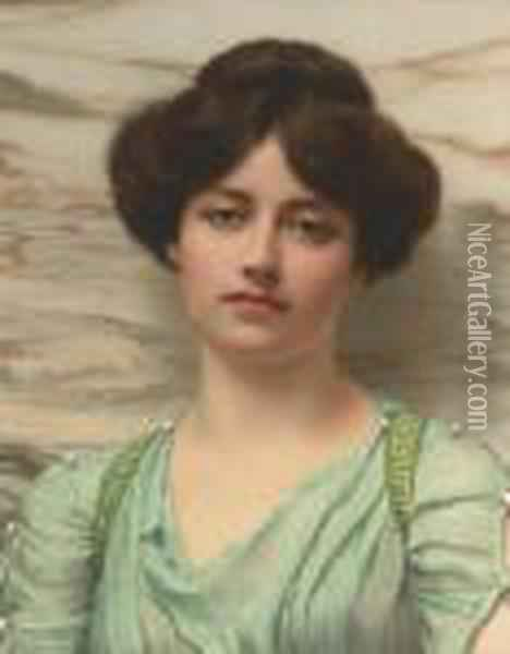 Carina Oil Painting - John William Godward