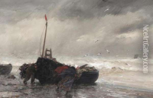 The Squall Oil Painting - Dudley Hardy