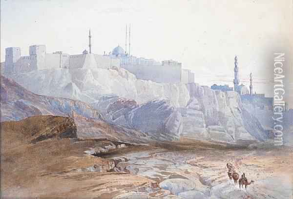 A View Of Jerusalem Oil Painting - Henry Andrew Harper