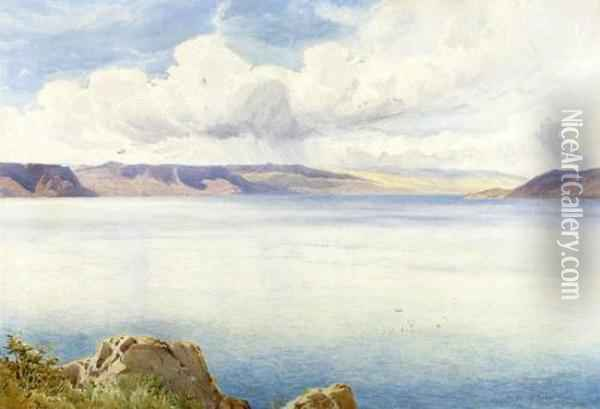 The Sea Of Galilee Oil Painting - Henry Andrew Harper