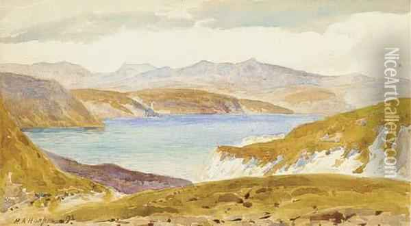 Sea Of Tiberias, From Gadara (illustrated); And View Of Sinai, Egypt Oil Painting - Henry Andrew Harper