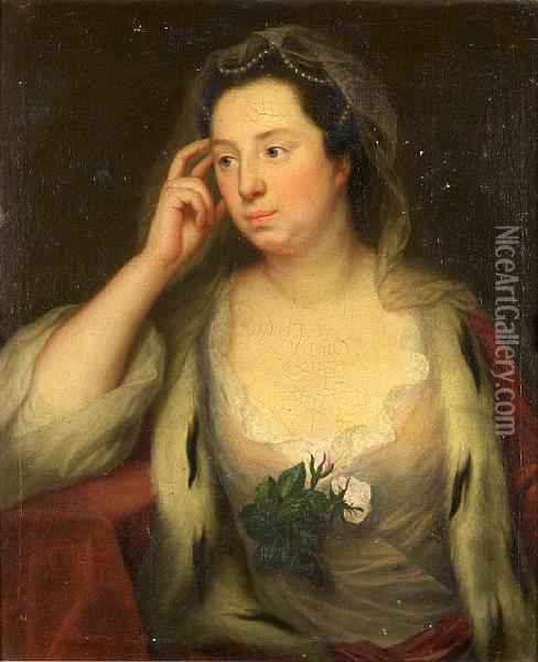 Portrait Of A Lady Oil Painting - Joseph Highmore