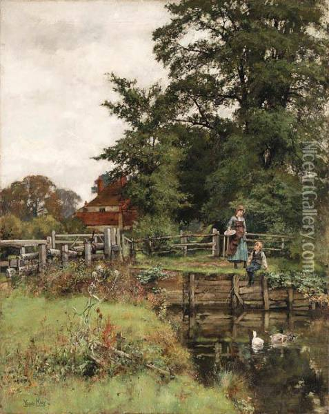 A Summer's Day Oil Painting - Henry John Yeend King
