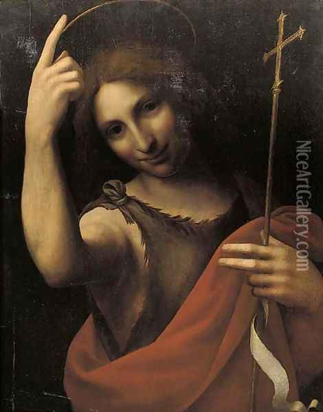 Saint John the Baptist Oil Painting - Leonardo Da Vinci