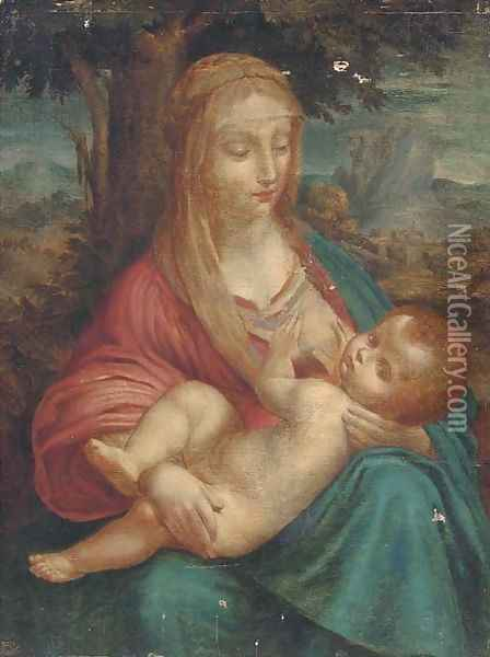 The Madonna and Child 2 Oil Painting - Leonardo Da Vinci